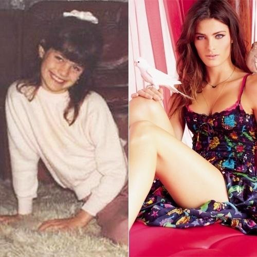Ainda menina, a garotinha Isabeli Fontana já apresentava traços de belezas indiscutíveis. Com o passar do tempo, a bela viria a ser campeã concurso Elite Model Look Contest aos 13 anos de idade. Na 2ª imagem (de 2010), Isabeli prova que o tempo só aprimora seu visual