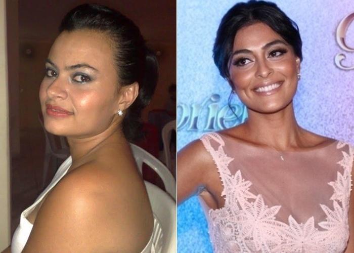Os amigos da Nicole Gomes dizem que ela se parece com as atrizes Juliana Paes e Cléo Pires