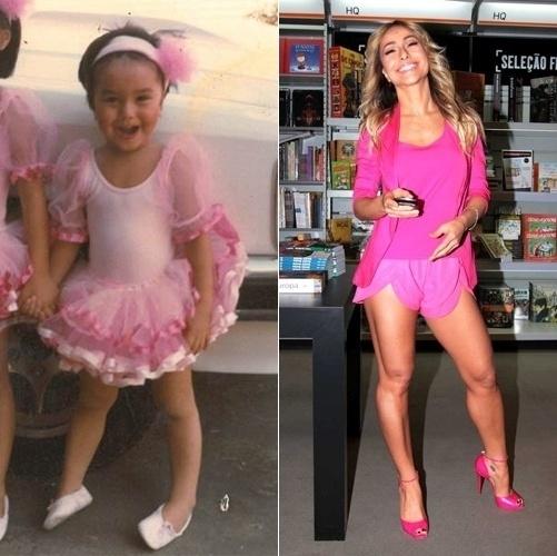 Quem vai negar que sorriso estampado é uma das marcas registradas de Sabrina Sato? Na primeira imagem, a japonesa, fantasiada de bailarina, tinha apenas três anos