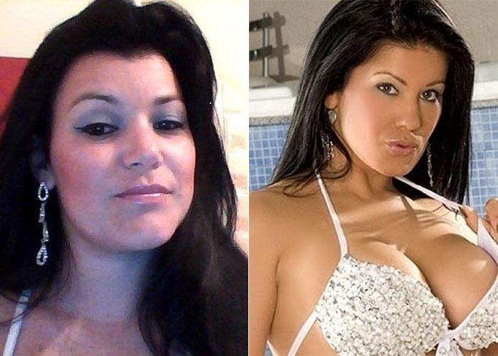 Luciana afirma ser parecida com a atriz pornô Bruna Ferraz. Semelhança indiscutível, não?