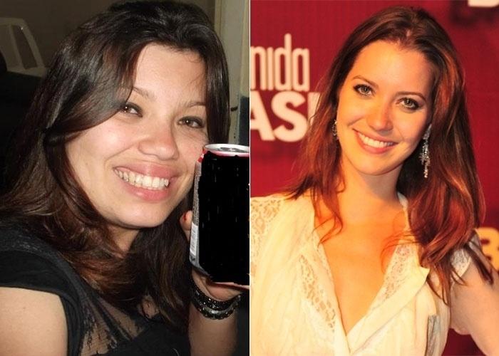 Rubia também se acha se acha parecida com a atriz Nathalia Dill. Pelo jeito, a atriz está cheia de sósias
