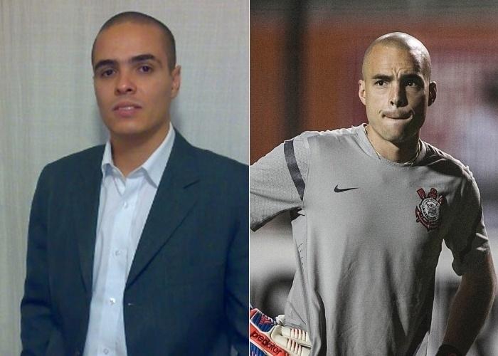 """""""Meu nome é Aurélio e muita gente diz que sou parecido com o goleiro Julio Cesar, do Corinthians. E as similaridades não param por aí, minha esposa também se chama Simone, assim como a do goleiro"""", diz o internauta de Campinas (SP)."""