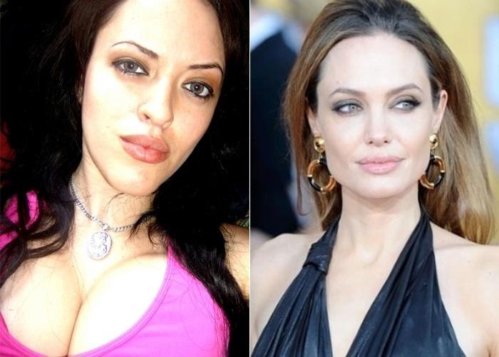Os amigos de Karina Mack sempre dizem que ela parece com a atriz norte-americana Angelina Jolie; ela é de São Paulo (SP).
