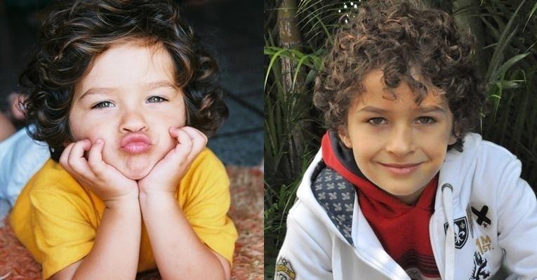 O ator Guilherme Seta, que interpreta Davi na novela infantil ?Carrossel?, é lindo desde pequenino
