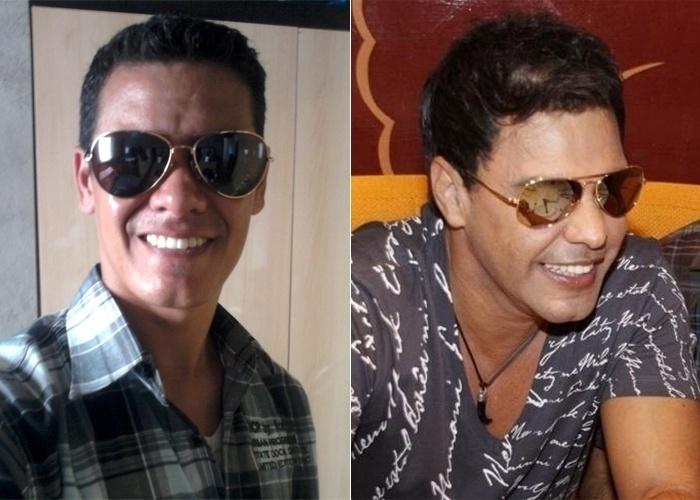 De óculos e furinho no queixo, Marcos Almeida de Paula, de Pindamonhagada (SP), afirma: Pareço com o cantor Zezé di Camargo. O que acha, internauta?