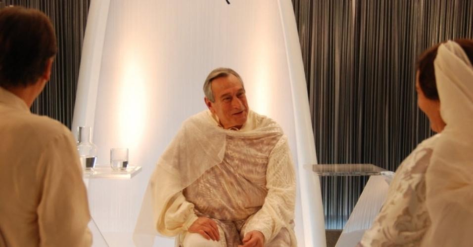 """O ator Paulo Goulart em cena do filme espírita """"Nosso Lar"""", de Wagner de Assis, lançado em 2010"""