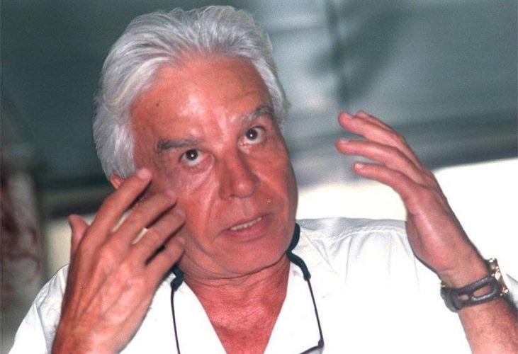 Cid Moreira durante entrevista coletiva (28/9/97)
