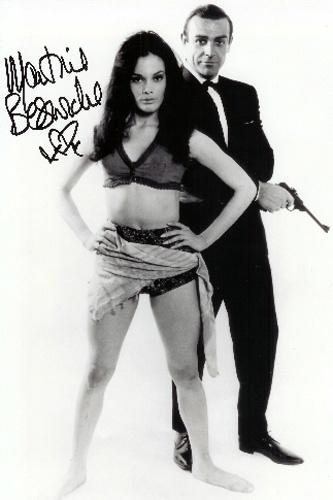 """Martine Beswick fez Paula, em """"Thunderball"""", de 1965"""