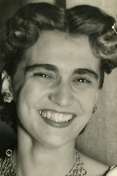 A cantora Hebe Camargo em foto de 14 de outubro de 1952