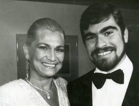 Hebe Camargo com seu filho Marcello