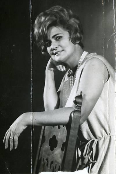 Hebe Camargo em foto dos anos 1960