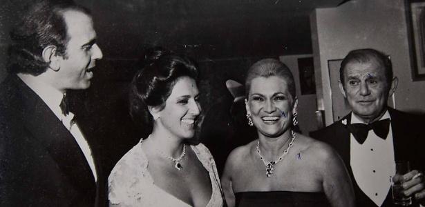O empresáario Naji Nahas com a apresentadora Hebe Camargo