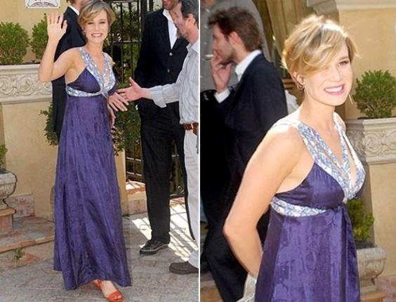 A atriz Mariana Ximenes foi madrinha do ator Rodrigo Veronese (7/12/2008)