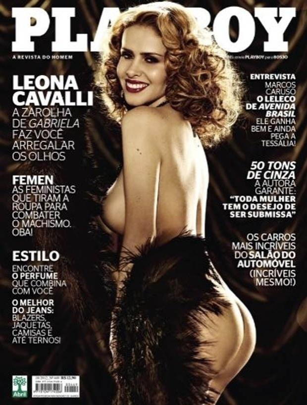 """A """"Playboy"""" divulgou nesta terça-feira (2/10/12) a capa da revista com a atriz Leona Cavalli, a Zarolha do Bataclã, famoso bordel do remake de """"Gabriela"""", da Globo. A publicação anuncia que a atriz """"faz você arregalar os olhos"""". A revista chega às bancas no dia 9 de outubro"""