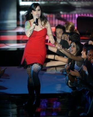 A cantora Pitty se apresenta na festa da premiação do VMB (Video Music Brasil) 2007, no Credicard Hall, em São Paulo (27/9/07)