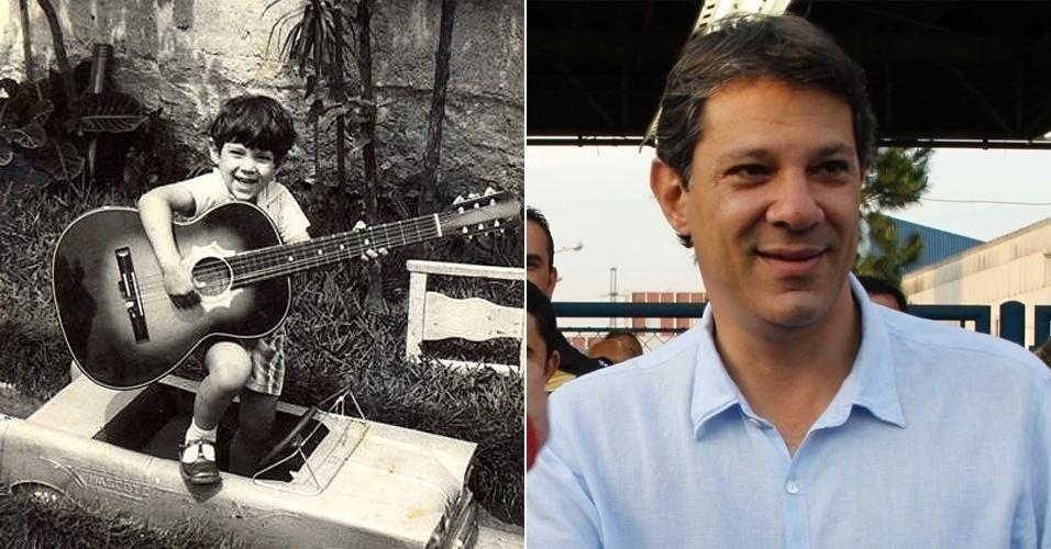 Este garoto tocando violão na foto é o candidato do PT à Prefeitura de São Paulo, Fernando Haddad