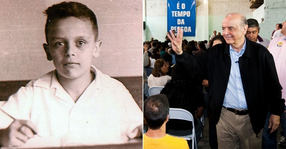 Nascido em 1942, o garoto sério da foto da época de colégio é o candidato à Prefeitura de São Paulo do PSDB, José Serra.