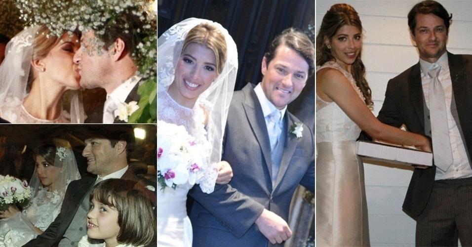 No dia 4 de agosto de 2012, o ator Marcelo Serrado se casou com a bailarina Roberta Fernandes na igreja Nossa Senhora do Carmo, no centro do Rio de Janeiro. Na imagem à direita, o casal aparece chegando ao hotel La Suite após o casamento (5/8/12)