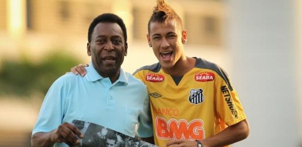 Para Pelé, o Barcelona seria o clube mais adequado para Neymar no futuro - Ricardo Nogueira/Folhapress