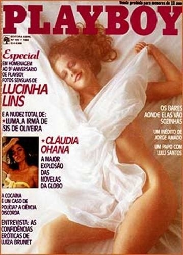 Agosto de 1984 - Lucinha Lins