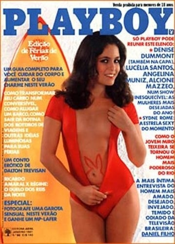 Janeiro de 1981 - Denise Dummont (capa pela 2ª vez)