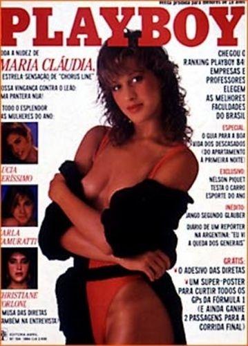 Março de 1984 - Cláudia Raia (posou com o nome de Maria Cláudia)