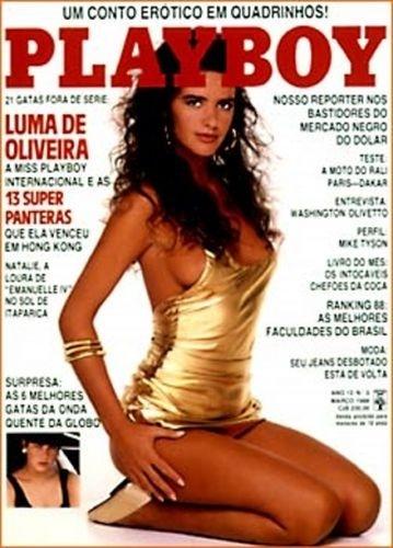 Março de 1988 - Luma de Oliveira (capa pela 2ª vez)