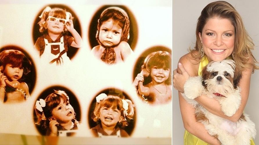 """""""O tempo voa"""", escreveu a atriz Bárbara Borges neste sábado (10/11/12) após postar uma foto de quando era criança, fazendo caras e bocas. Você acha que ela mudou muito?"""