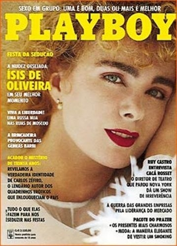 Novembro de 1991 - Ísis de Oliveira (capa pela 2ª vez)