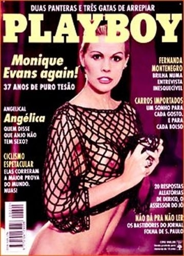 Novembro de 1993 - Monique Evans (capa pela 3ª vez)