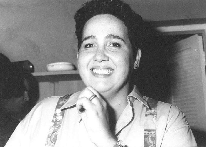 A atriz Claudia Jimenez em foto de fevereiro de 1996