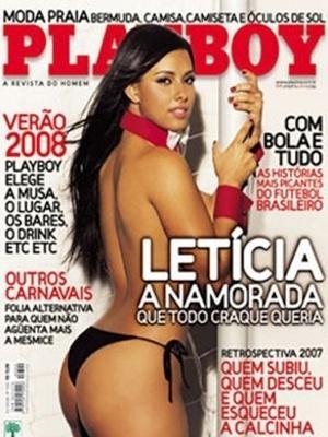 Janeiro de 2008 - Letícia, ex-namorada do jogador Richarlyson