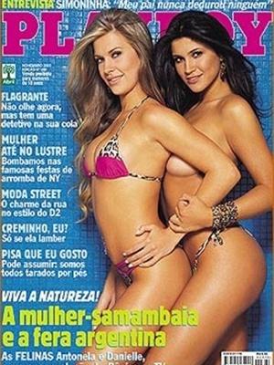 Novembro de 2003 - Antonela e Dani Souza, a Mulher Samambaia