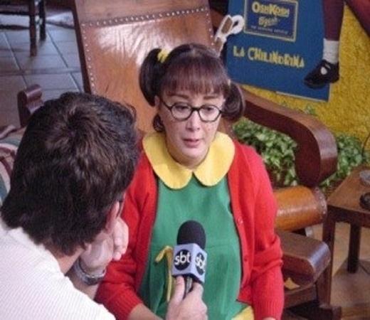 A atriz mexicana María Antonieta de las Nieves, a Chiquinha do seriado 'Chaves', vem ao Brasil para participar do 'Programa do Ratinho'.