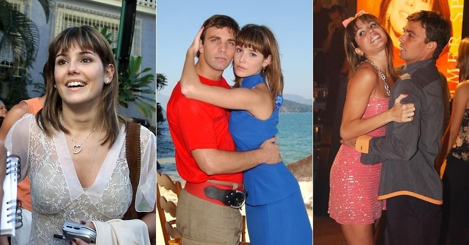 """Deborah Secco e Marcelo Faria começaram a namorar durante a novela """"Celebridade"""", em que interpretam Darlene e Vladimir. O romance durou dois meses (25/8/03)"""