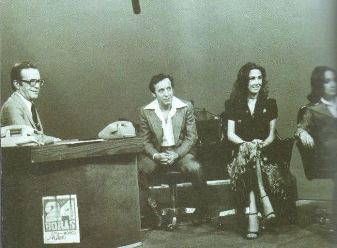 Elenco de 'Chaves' participa de um programa de entrevista com o apresentador e jornalista mexicano Jacobo Zabludovsky