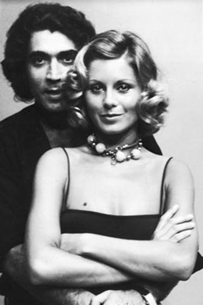 Vera Fischer e seu primeiro marido (1973), o ator Perry Salles. O casamento durou 16 anos