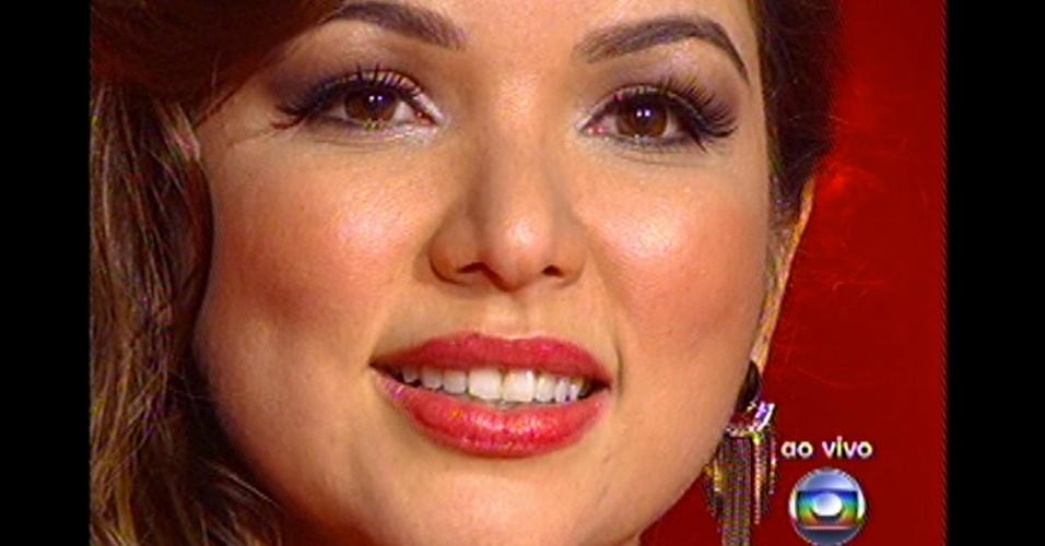 16.dez.2012 - Liah Soares, do time de Daniel, se apresenta no 'The Voice Brasil'
