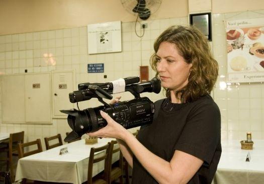 18.set.2007 - Patrícia Pillar durante as gravações do documentário sobre a trajetória do cantor Waldick Soriano. Ela também produziu o show e um CD do músico, que morreu em 2008