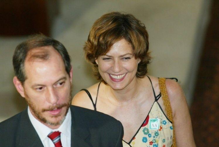 2003 - Ciro Gomes e Patrícia Pillar participam de lançamento do Programa Brasileiro de Cinema e Audiovisual, no Palácio do Planalto, em Brasília