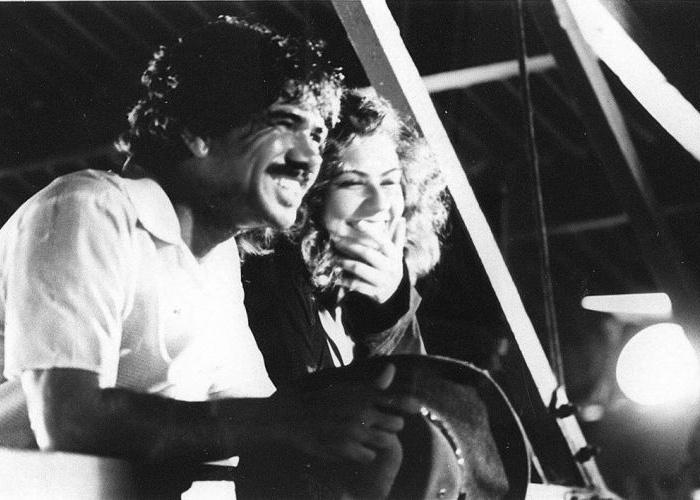 """1993 - Os atores Patrícia Pillar e Jackson Antunes em cena da novela """"Renascer"""", exibida pela TV Globo"""