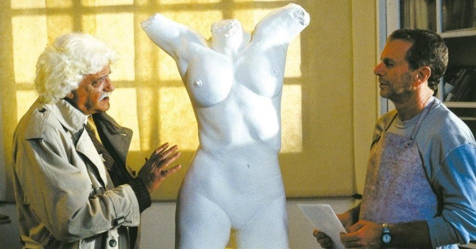 """2003 - Walmor Chagas e Jonas Bloch em cena de 'Histórias do Olhar"""", filme de Isa Albuquerque"""