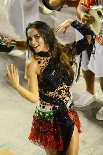 """13.jan.2013 - A assistente de palco do """"Domingão do Faustão"""" é a nova rainha de bateria da escola de samba Grande Rio. A morena vai assumir o posto de Ana Furtado"""