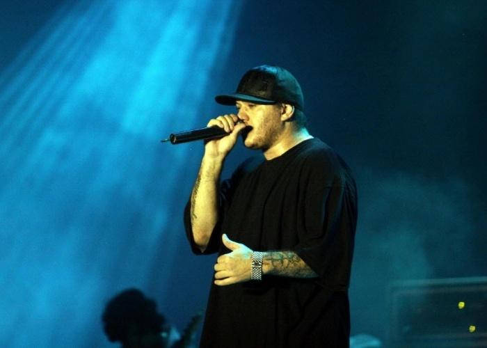 5.nov.2006 - Chorão em show da banda Charlie Brown Jr. em festival na Costa do Sauipe (BA)