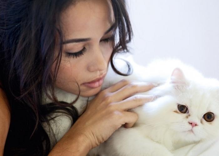 """Abril de 2010 - A atriz Nanda Costa posa com um gato para ensaio sensual da revista """"Trip"""" de 2010"""