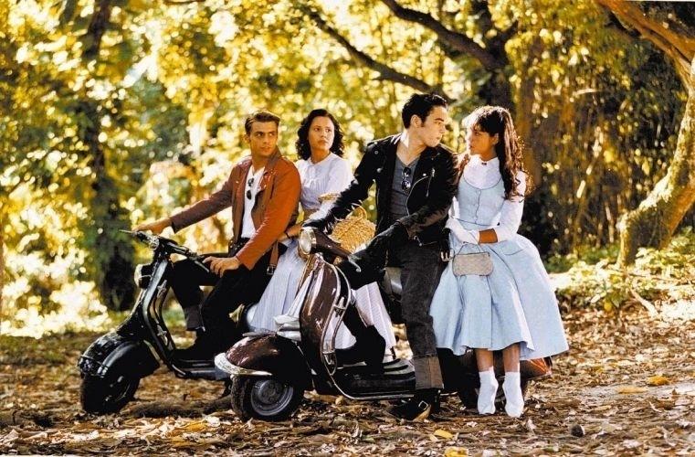 2000 - Os atores Henri Castelli, Juliana Knust, Caio Blat e Thaís Fersoza, em cena da novela