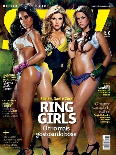 Março de 2010 - As ring girls Suelen, Dani e Carol