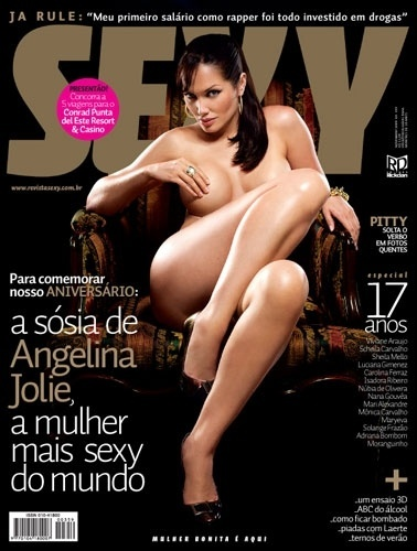 Novembro de 2009 - Lucila Siclaco, sósia da Angelina Jolie