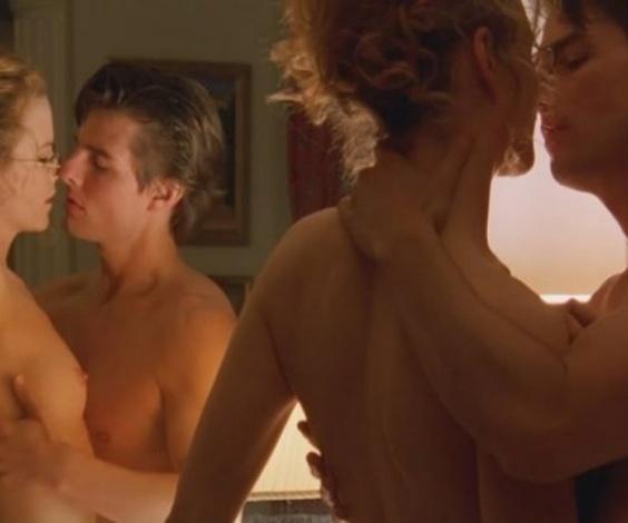 """""""De Olhos Bem Fechados"""" (1999) - O então casal Nicole Kidman e Tom Cruise protagonizou cenas de sexo no último filme de Stanley Kubrick"""