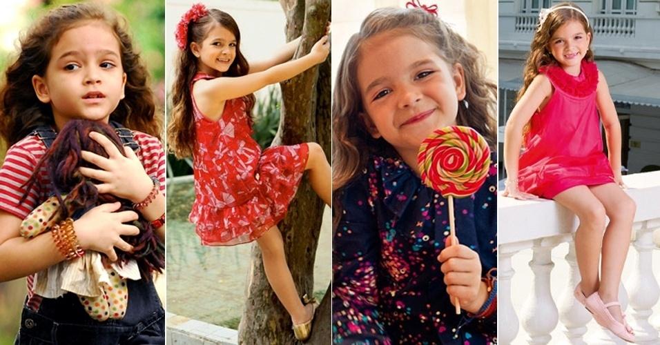 """3.mai.2013 - Mel Maia comemora 9 anos nesta sexta-feira. A atriz, que surgiu na TV em 2012 e encantou o público brasileiro ao dar vida a Rita na primeira fase de """"Avenida Brasil"""" (à esquerda), é um dos nomes mais promissores da nova geração. A """"pequena notável"""" estreou no teatro aos 5 anos e, atualmente, é considerada uma das maiores apostas da telinha"""